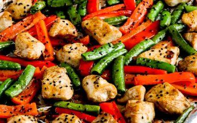 Comida para sartén de pollo con bajo contenido de carbohidratos (video)