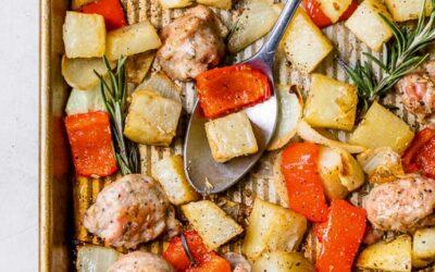 Patatas Asadas, Salchichas y Pimientos
