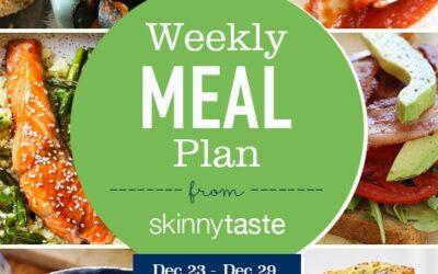 Plan de comidas Skinnytaste (23 de diciembre-29 de diciembre)
