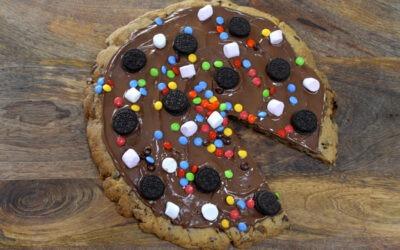 Pizza gigante de galletas de Nutella