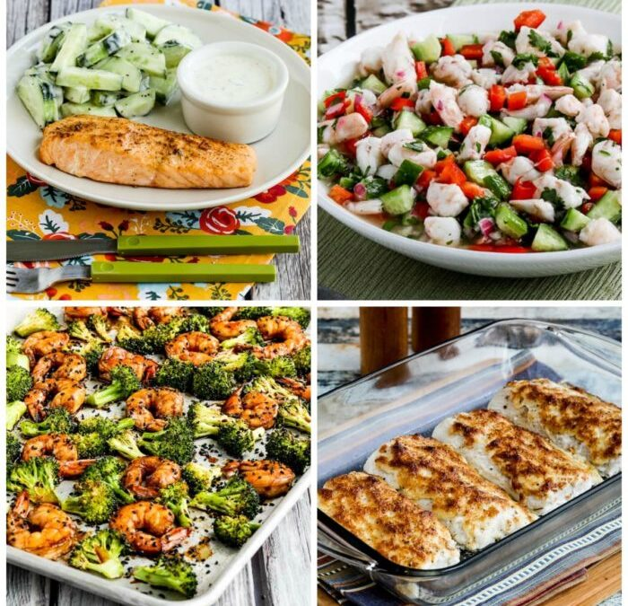 Las MEJORES recetas de pescados y mariscos bajos en carbohidratos de Kalyn's Kitchen