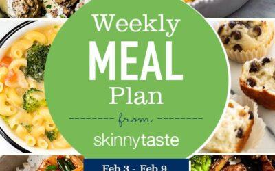 Plan de comidas para bajar de peso de 7 días (del 3 de febrero al 9 de febrero)