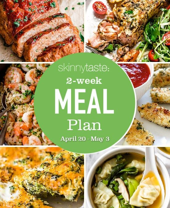 Plan de comidas saludables de 14 días (del 20 de abril al 3 de mayo)