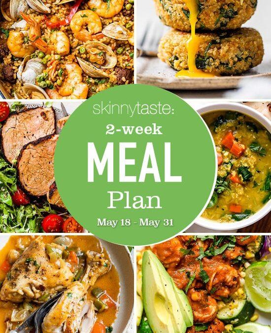 Plan de comidas saludables de 14 días (18-31 de mayo)