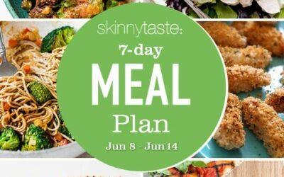 Plan de comidas saludables de 7 días (8 al 14 de junio)