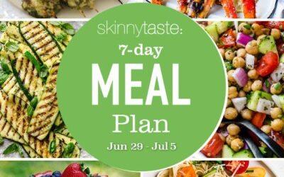 Plan de comidas saludables de 7 días (29 de junio al 5 de julio)