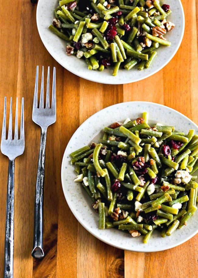 Ensalada de judías verdes con queso azul, arándanos y nueces – Kalyn's Kitchen