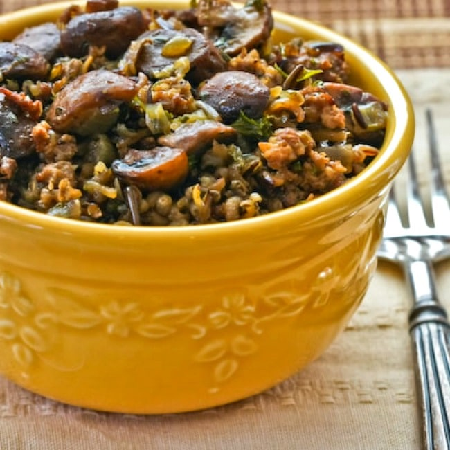 Arroz salvaje con salchicha y champiñones – Kalyn's Kitchen