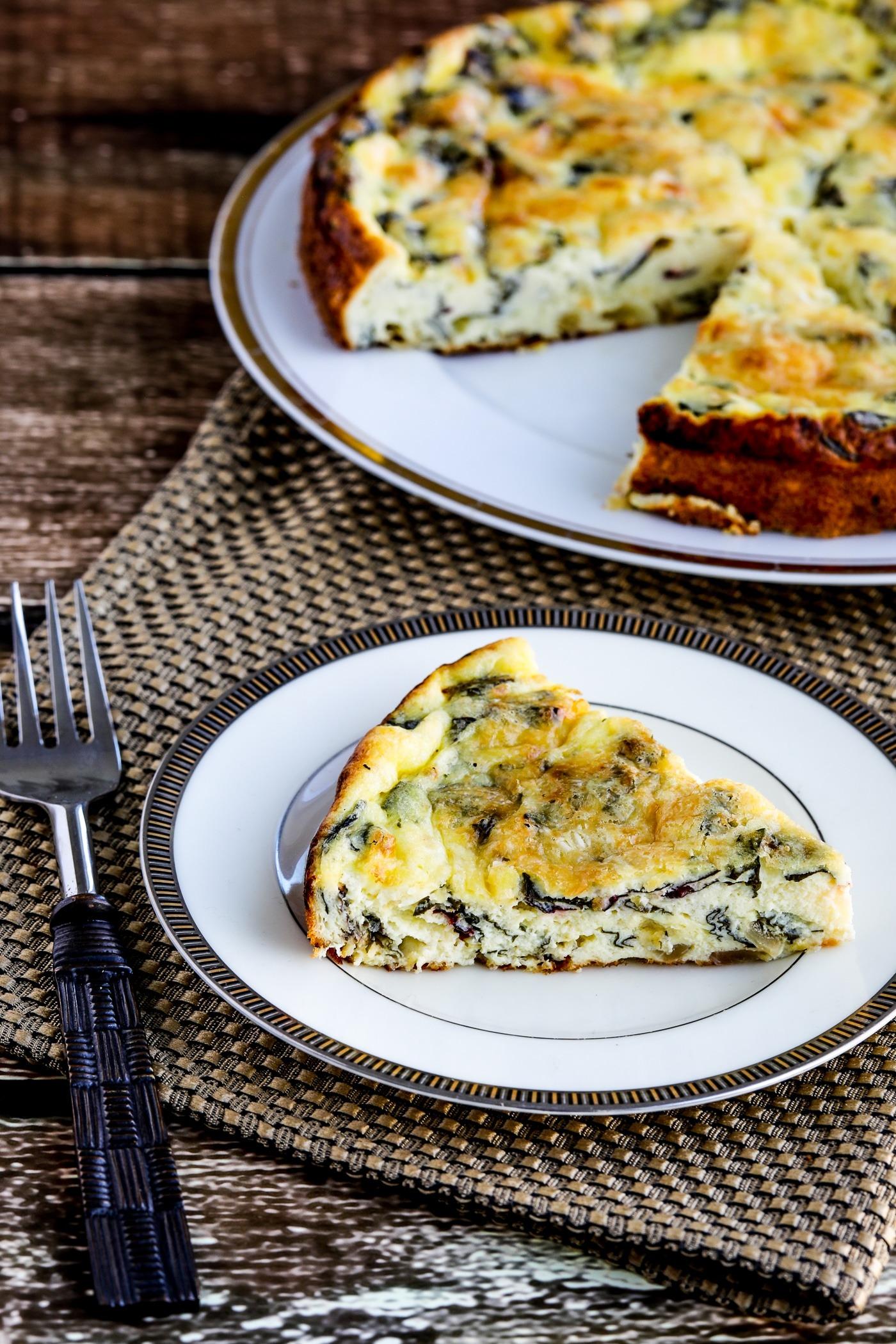 Flan de queso de cabra y acelgas suizas al horno – Kalyn's Kitchen