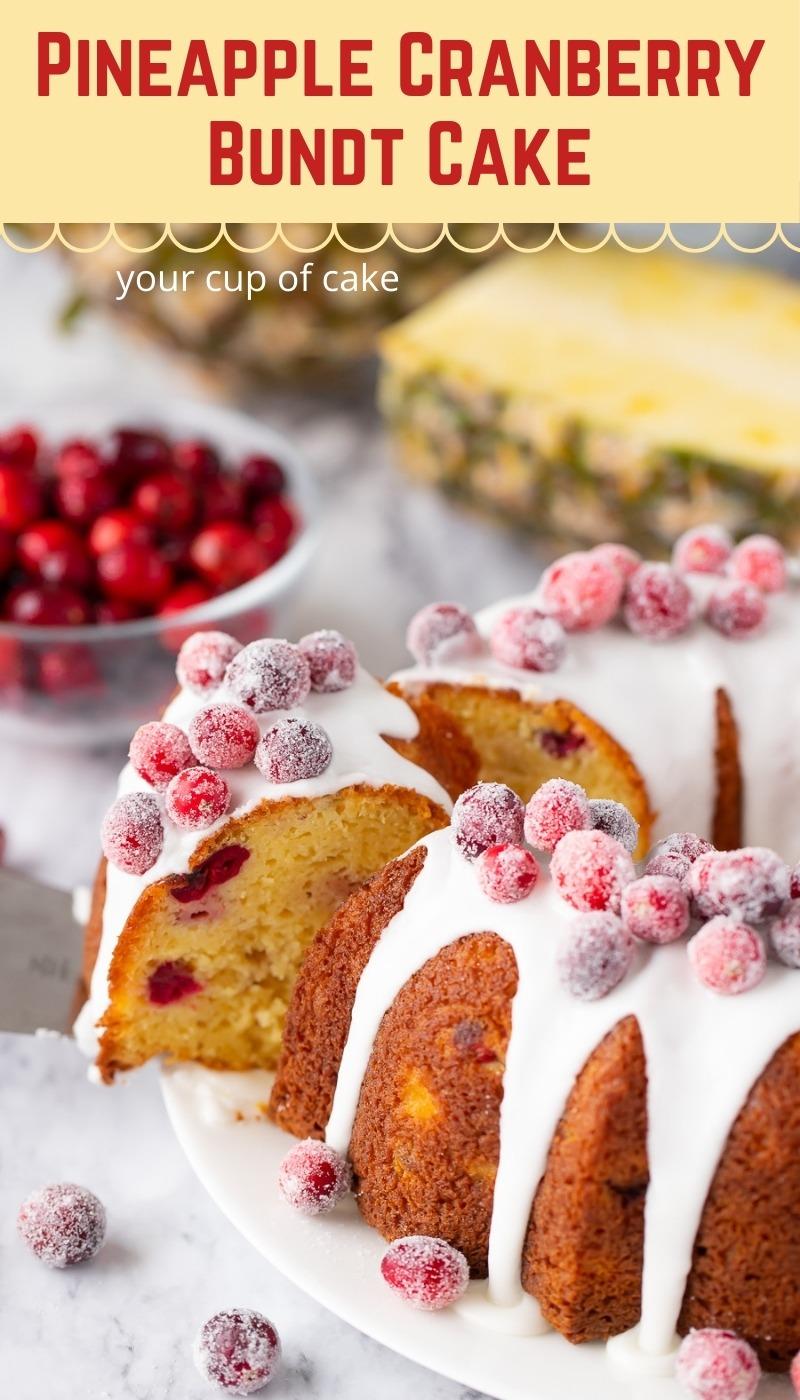 Bundt Cake de piña y arándanos – Your Cup of Cake