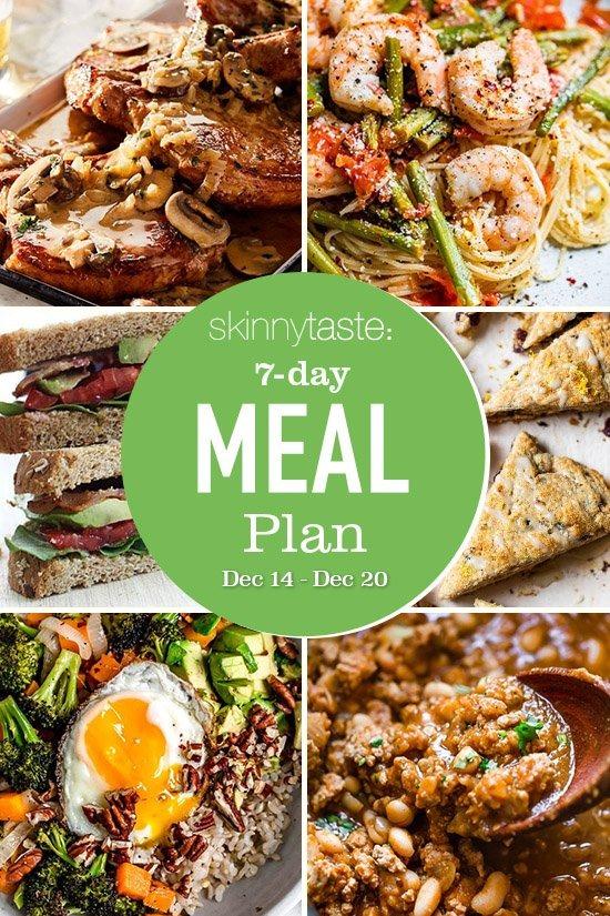 Plan de comidas saludables de 7 días (14-20 de diciembre)