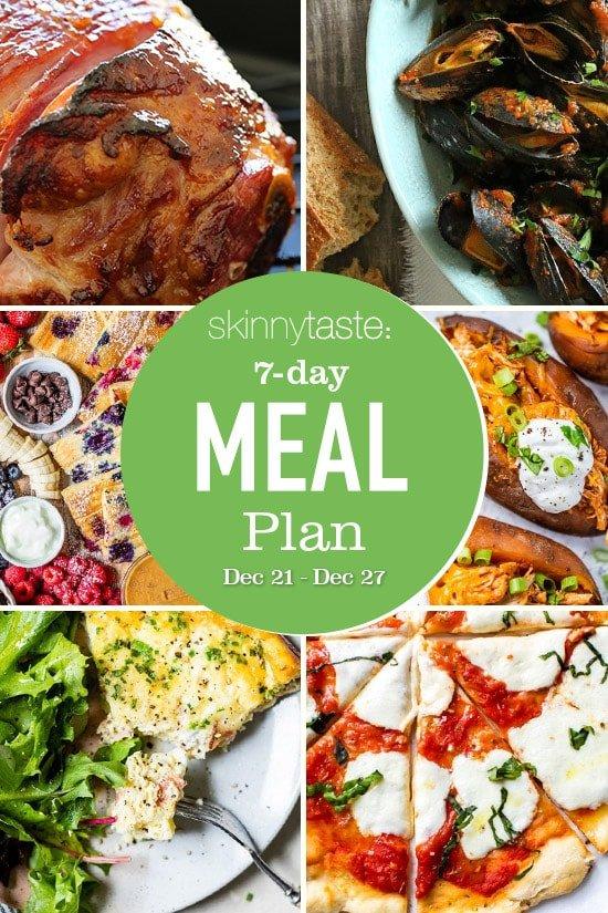 Plan de comidas saludables de 7 días (21-27 de diciembre)