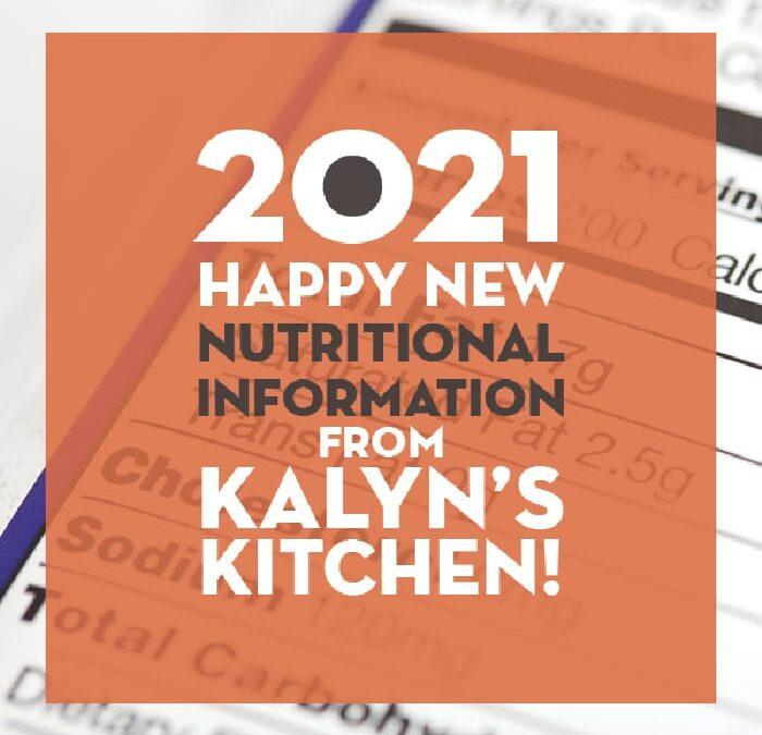 ¡Es 2021 y feliz nueva información nutricional! – Cocina de Kalyn