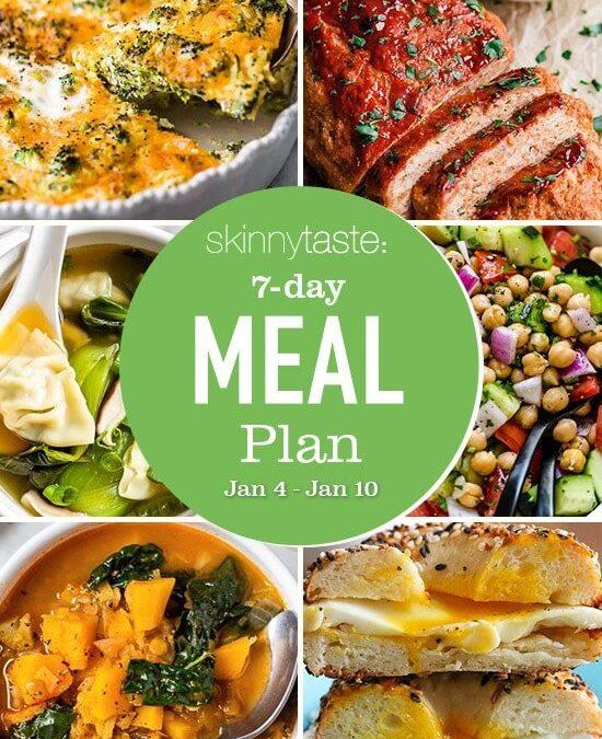 Plan de comidas saludables de 7 días (4-10 de enero)