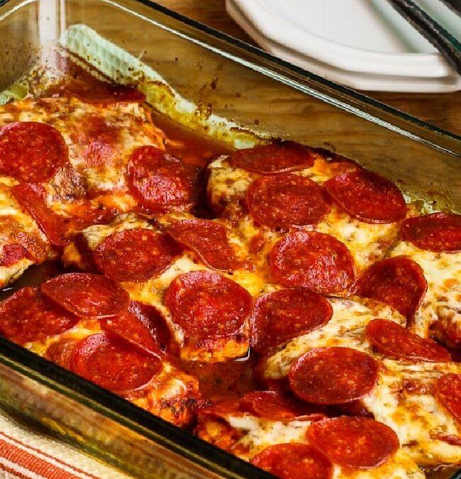 Pollo al horno con pizza de pepperoni (video) – Kalyn's Kitchen