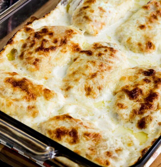 Horneado Cordon Bleu de pollo cremoso y bajo en carbohidratos (video) – Kalyn's Kitchen