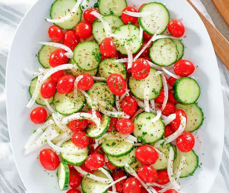 Ensalada De Cebolla, Tomate Y Pepino Cracker Barrel