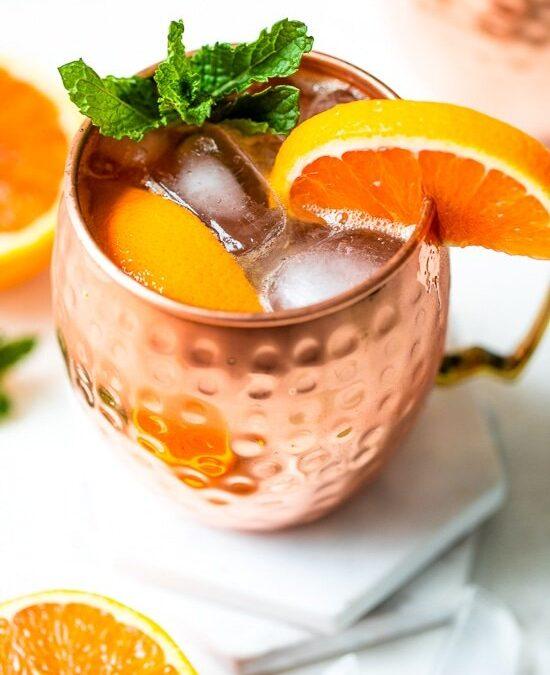 Mocktail de naranja Moscow Mule (sin alcohol)