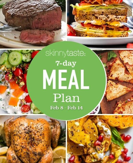 Plan de comidas saludables de 7 días (del 8 al 14 de febrero)