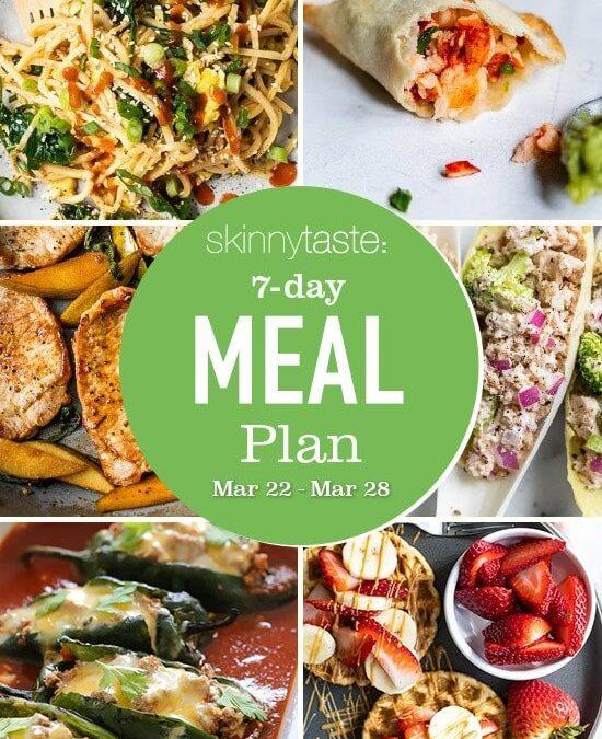 Plan de comidas saludables de 7 días (22-28 de marzo)