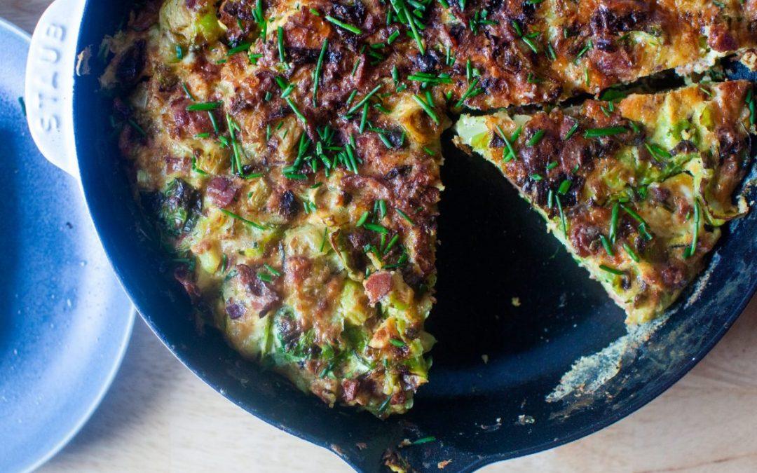 Frittata de coles de Bruselas y tocino – cocina enamorada