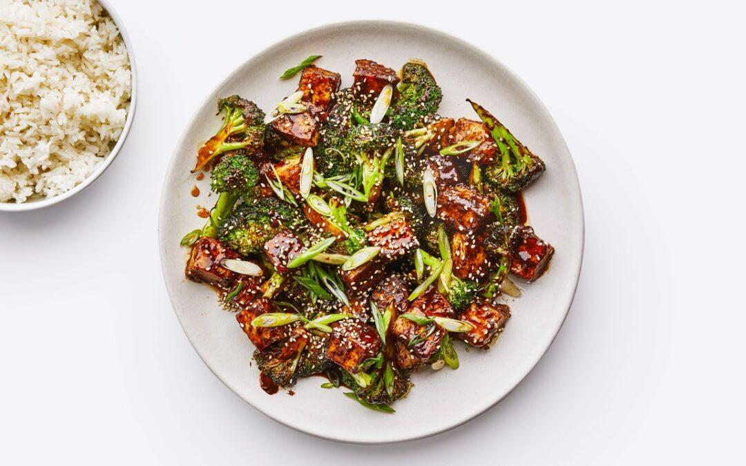 Receta De Tofu De Sésamo Con Brócoli