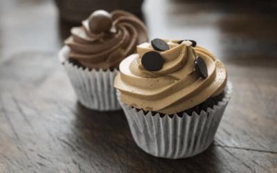Cupcakes de chocolate veganos