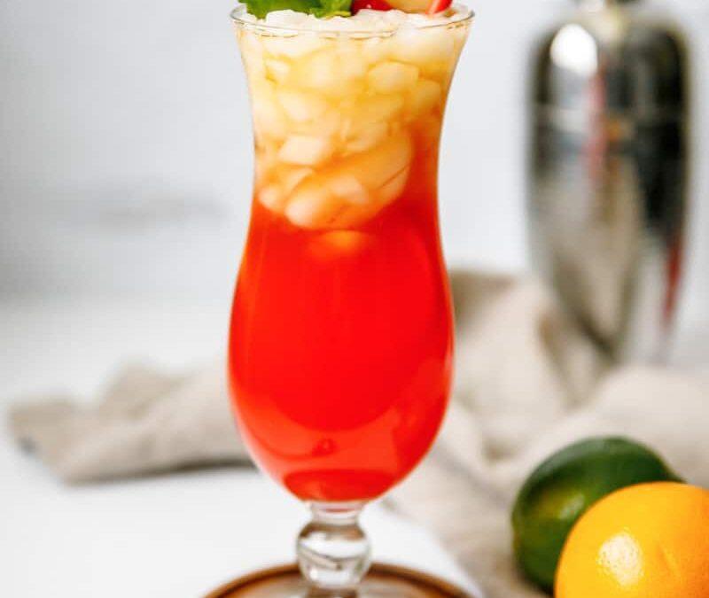 Receta de cóctel de langosta roja Mai Tai