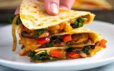 Quesadillas de vegetales dignas de antojo