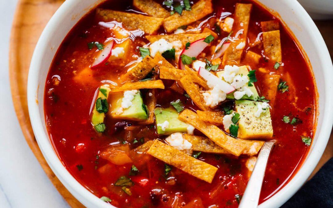 Receta de sopa de tortilla vegetariana – Cookie and Kate