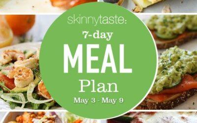 Plan de comidas saludables de 7 días (del 3 al 9 de mayo)