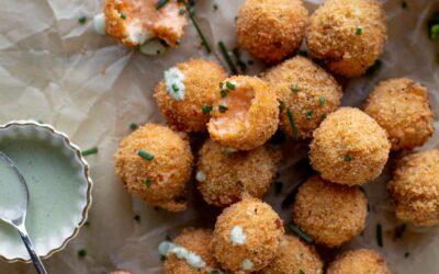 Poppers de queso con pimiento – Bocaditos de queso con pimiento frito