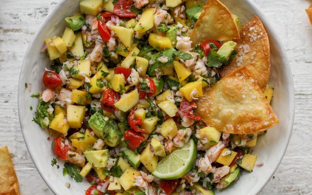 Salsa de camarones – Receta de salsa de camarones con mango, aguacate y camarones